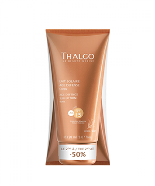 THALGO DUO Anti-Aging Sonnenmilch LSF 15, 2x 150 ml
